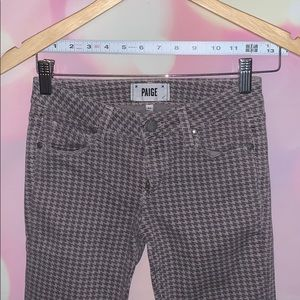 Paige Houndstooth Denim Jeans size 24